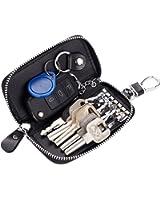 Bravo Crafts Premium Leather Car Key Holder Bag Credit Card Holder Wallet