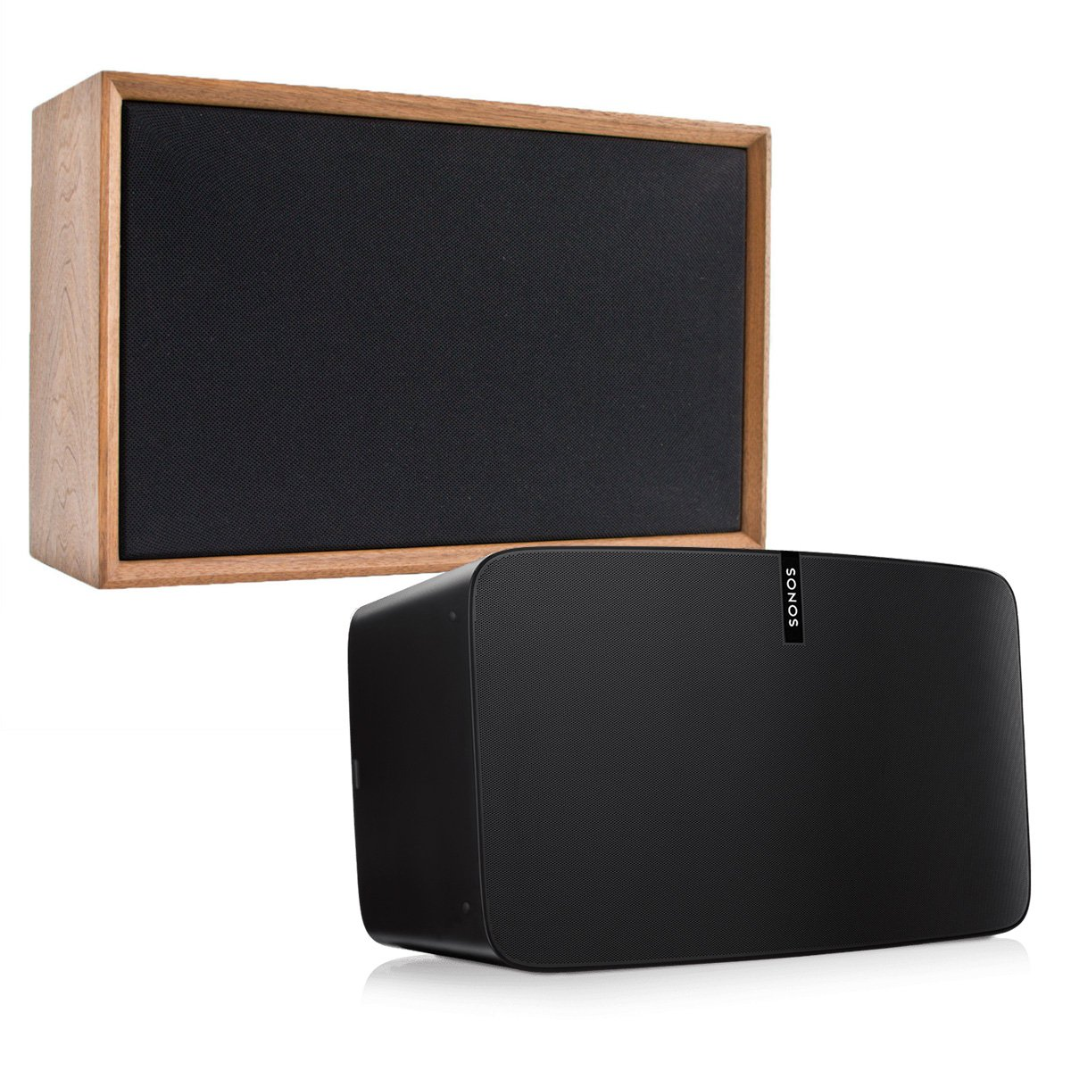 Sonos PLAY:5 - Ultimate Wireless Smart Speaker for Streaming Music with Leon ToneCase Hardwood Cabinet (Black Walnut)