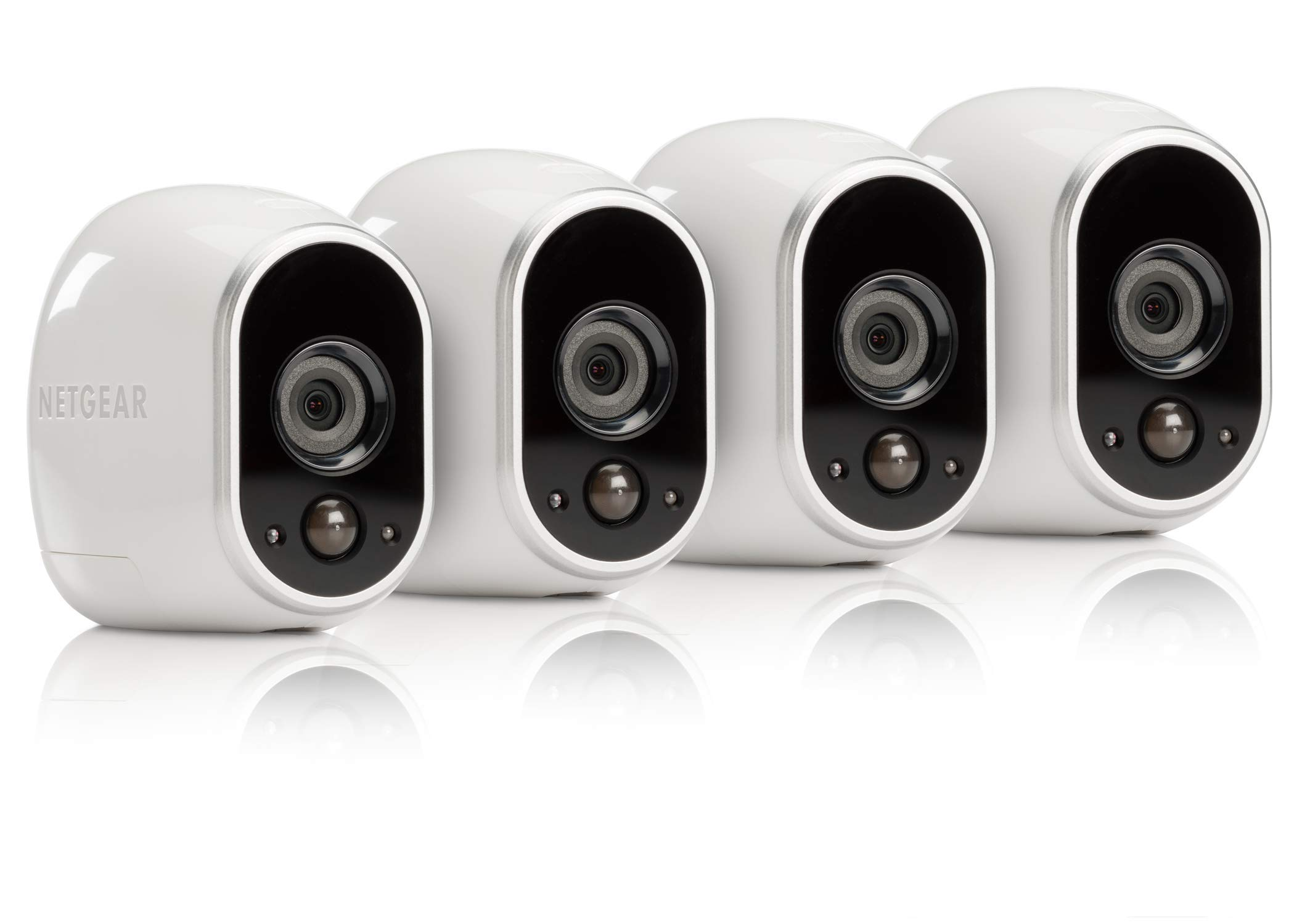 Arlo - Wireless Home Security Camera System with Motion Detection | Night vision, Indoor/Outdoor, HD Video, Wall Mount | Cloud Storage Included | 4 camera kit (VMS3430) by Arlo Technologies, Inc