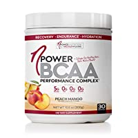 nPower Nutrition BCAA Powder with Collagen, Peach Mango, Workout Recovery Drink for Lean Muscle Growth and Muscle Recovery, 5g BCAA, 1000mg Collagen, 10.6oz Tub