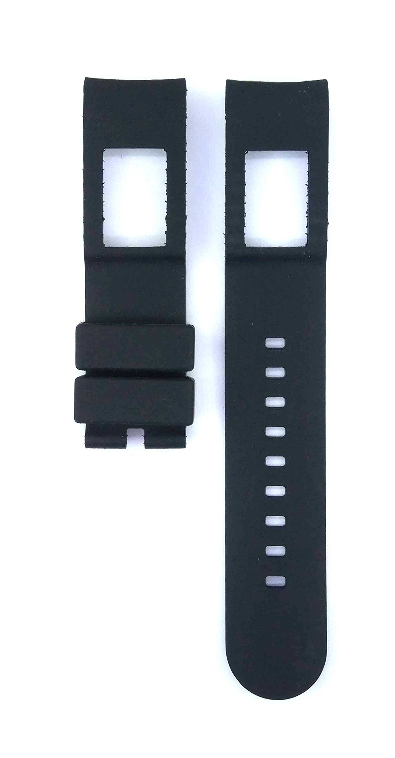 22mm Black Rubber Watch Band Strap For Working Chronograph AP0690 Watches 478ARM