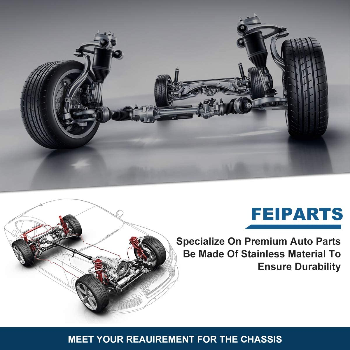 FEIPARTS Suspension Parts Sway Bar Link Kit Rear Sway Bar End Links Rear Sway Bar End Links 2001 2002 2003 2004 2005 For EL 2001 2002 2003 2004 2005 For Honda Civic