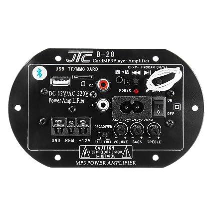 MOMOALA AAlamor 12V 220V Bluetooth Amplificador De Potencia De ...