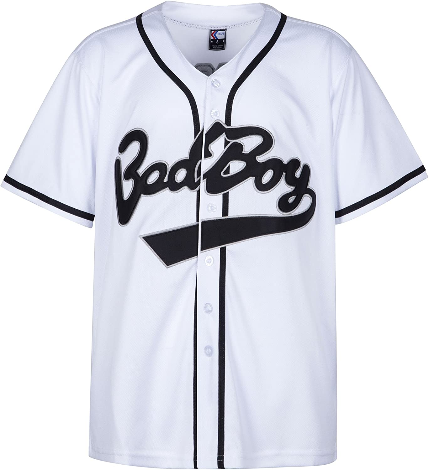 MOLPE Badboy #10 Biggie Baseball Jersey S-XXXL White Stitched Letters and Numbers 90S Hip Hop Clothing for Party