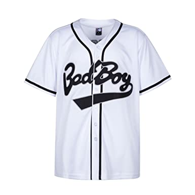 95575dd864bb Amazon.com  MOLPE Badboy  10 Biggie Baseball Jersey S-XXXL White ...