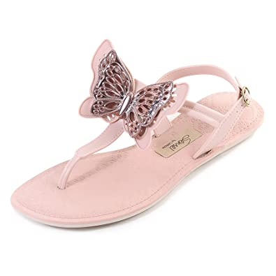 9a077199f Grendha Women s Sense Butterfly Slip On Buckle Sandal Blush  Amazon ...