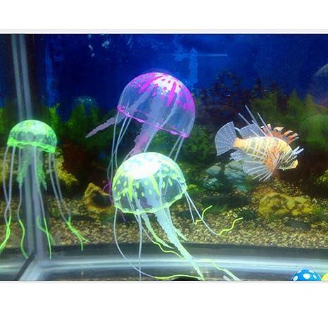 SwirlColor 3x artificial medusas decoración del acuario del tanque de pescados