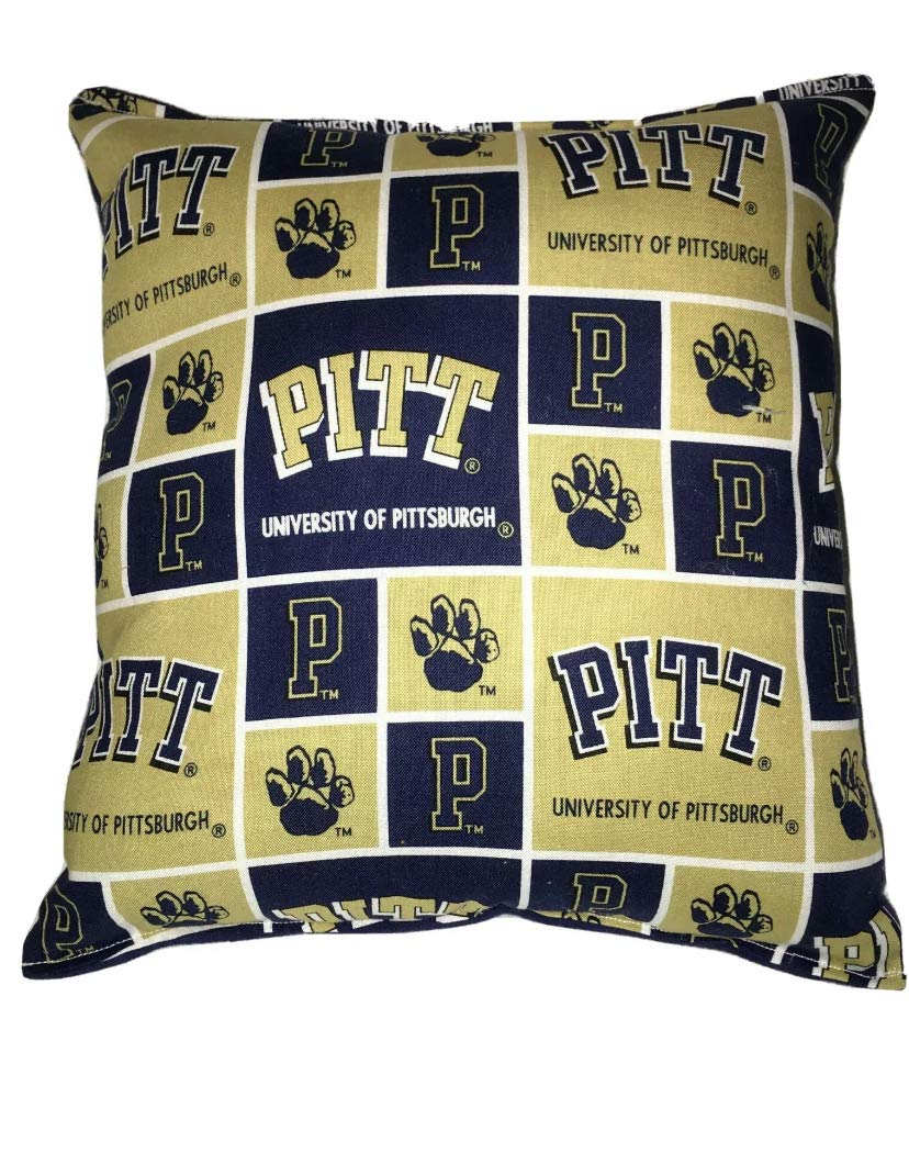 Amazon Com Pittsburgh University Pitt Pillow All Our Pillows Are Handmade Hypoallergenic Cotton With Flannel Backing Handmade