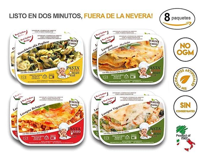 Comida Lista Microondas Orecchiette Lasagna Bolognese Lasaña con ...