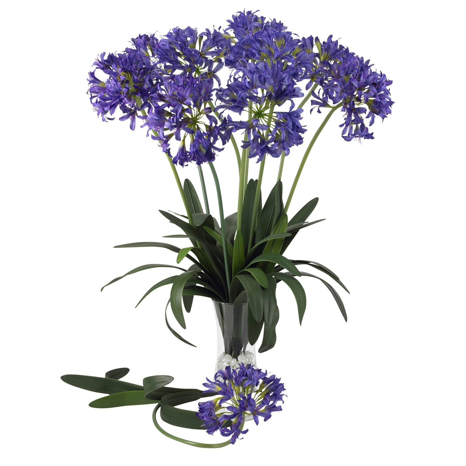 Nearly Natural 2129-PP African Decorative Lily Stem, 29-Inch, Purple