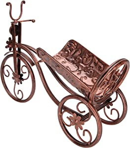 ZHHZ Tricycle-Shaped Wine Rack Ornaments-Iron Wine Holder Tricycle Shape Wine Bottle Rack Stand for Bar Counter Home DecorBronze