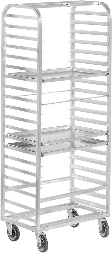 Amazon Com Channel Manufacturing 412a Dor Double Section Side Load Aluminum Bun Pan Oven Rack 30 Pan Home Kitchen