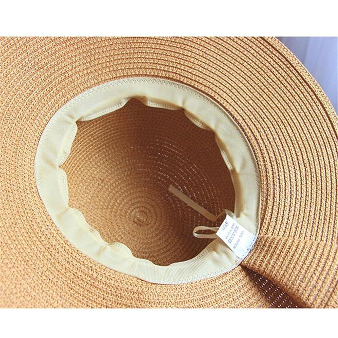 Sombrero de Jipijapa de Paja Verano Primavera Plegable Mujer Niñas Caqui   Amazon.es  Ropa y accesorios 4c833d79a15