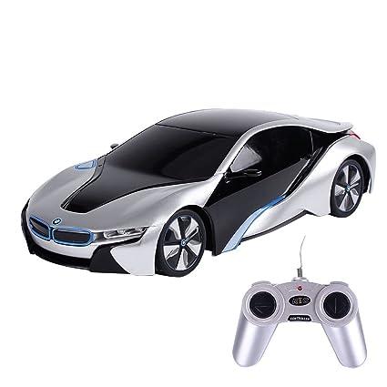 Amazon Com Eforcity 1 24 Bmw I8 Concept Rc Sports Car Silver Toys