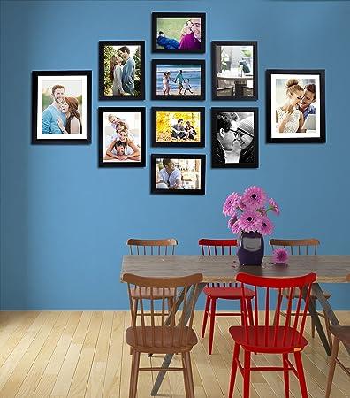 9bae53fd4f30 Art Street - Set of 10 Individual Black Wall Photo Frames Wall Hanging (Mix  Size