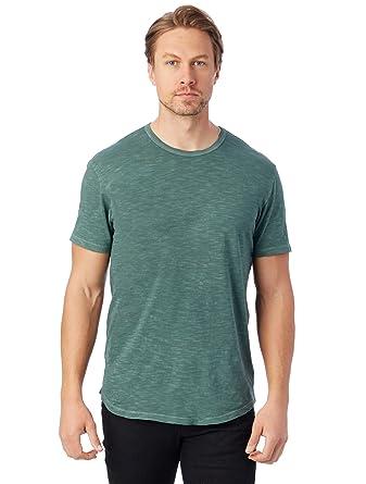 5a81f023d Amazon.com: Alternative Men's Washed Slub Postgame Crew-Neck T-Shirt ...