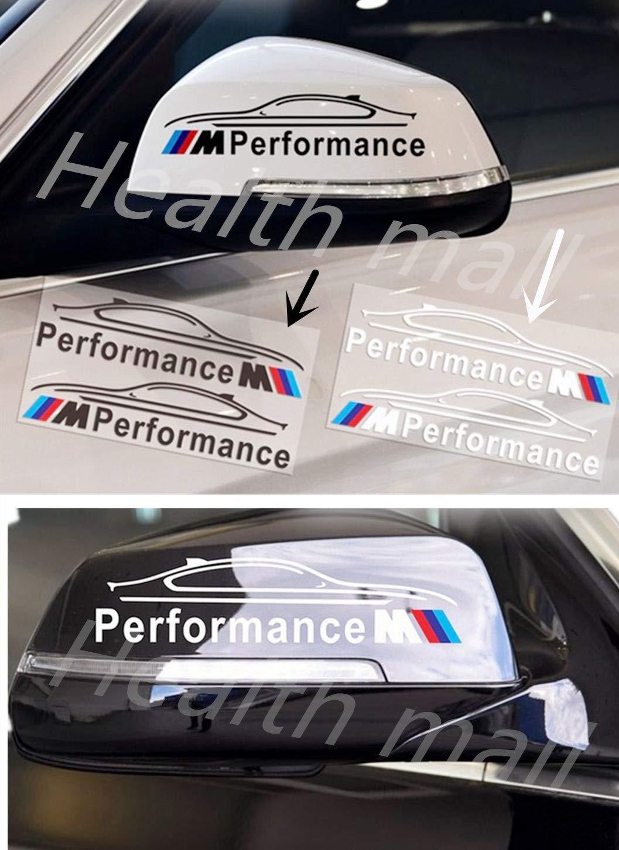 2 PCS M Car Rear View Mirror Sticker Emblem Auto Decal Decoration For BMW