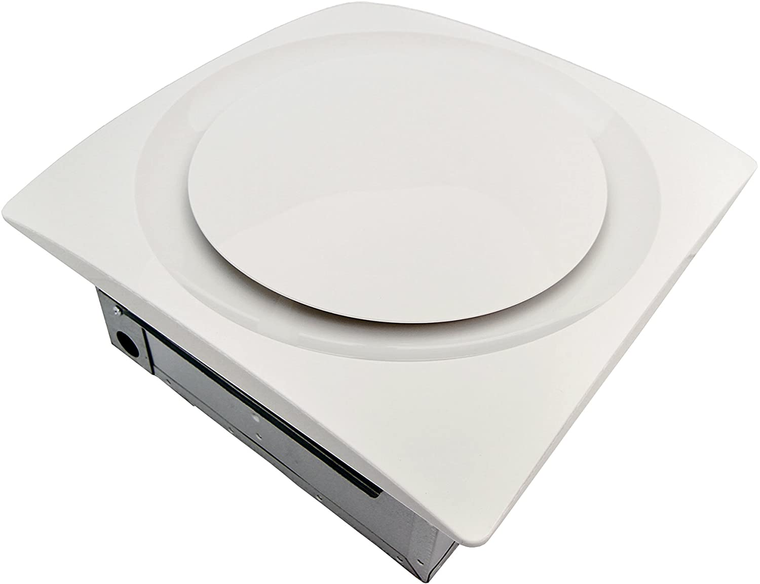 Aero Pure AP90-S G6 W Slim Fit Super Quiet 90 CFM Bathroom Ventilation Fan with White Grille