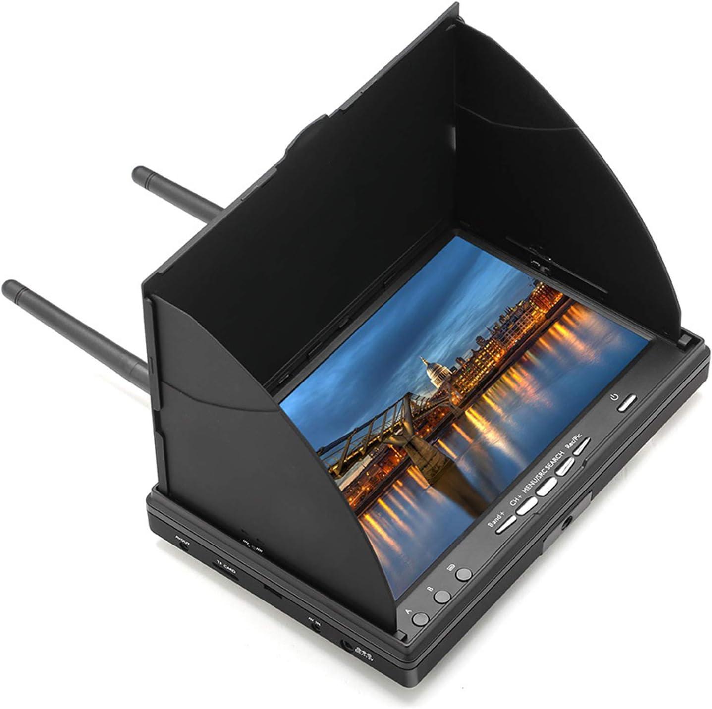 monitor receptor de video FPV con DVR 5.8G 40CH 7´´ 800X480