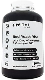 Levadura de Arroz Rojo con 10 mg de Monacolina K y 5 mg de Coenzima Q10