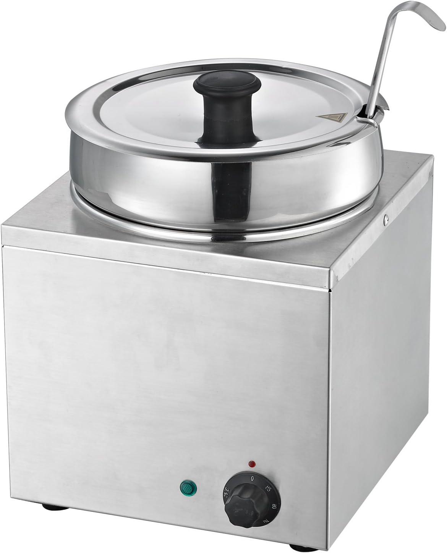 Hakka Commercial Countertop Food Warmer/Buffet Soup Pot (3.5L)