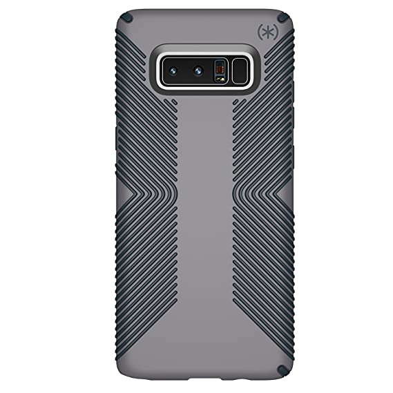 timeless design 82853 18fc2 Speck Products Presidio Grip Cell Phone Case for Samsung Galaxy Note8 -  Graphite Grey/Charcoal Grey Presidio Grip