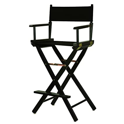 Casual Home 30u0026quot; Directoru0027s Chair Black Frame With Black Canvas, ...