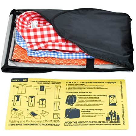 shirt mate shirt carrier with anti wrinkle folding board by gate8