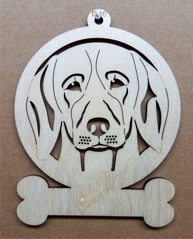 Wooden Beagle Ornament