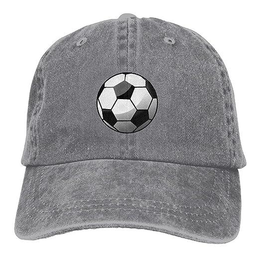 19a442ae17c Amazon.com  IEHFE Men Women Classic Denim Football Adjustable Baseball Cap  Dad Hat Low Profile Perfect For Outdoor  Clothing