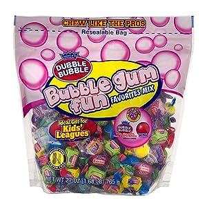 Dubble Bubble Bubble Gum Fun Favorites Mix, 27 oz Bag