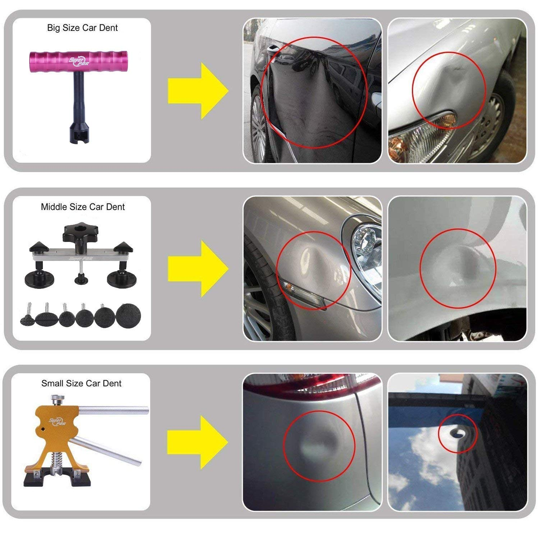 AUTOPDR 52Pcs Dent Repair Kit,Professional Dent Puller Kit,PDR Tools 52Pcs Dent Remover for Car Body Dent Repair Kit by AUTOPDR (Image #4)