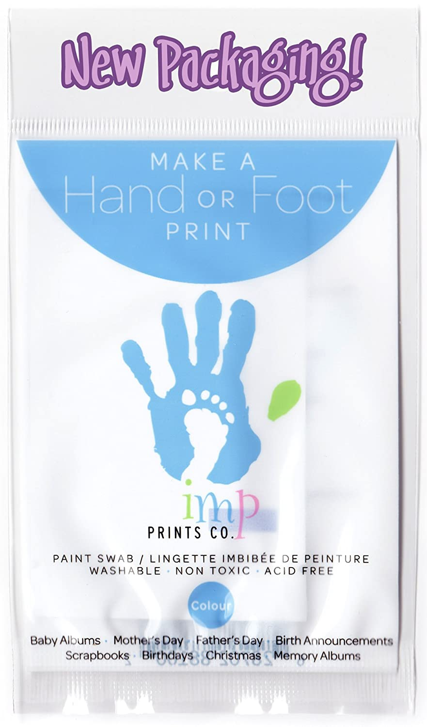 Imp Prints Co Baby Hand Print Footprint Paint Wipe Kit (Blue) B00465S12O