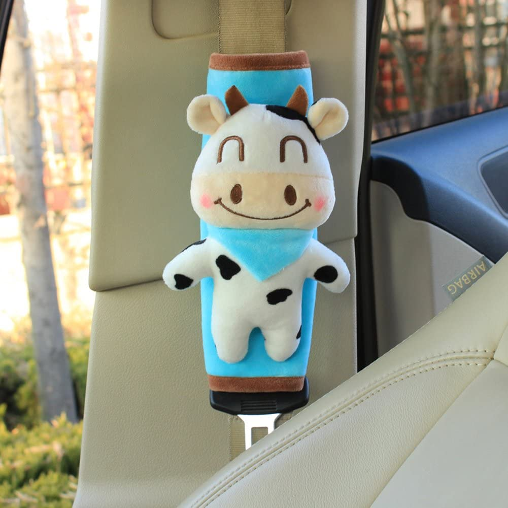 Elephant Cute Plush Mini Animals Car Seat Belt Covers Shoulder Pads For Children or Adults 2 pieces