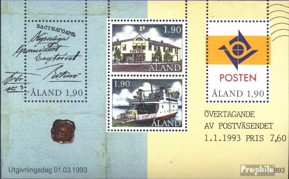 Prophila Collection Finnland 1993 Posthoheit Seefahrt kompl.Ausg. Aland Block2 Briefmarken f/ür Sammler