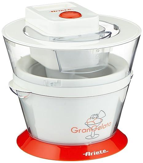 Ariete 638 HELADERA Gran Gelato, 800 W, 1 Liter, Blanco