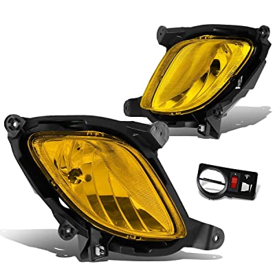 DNA Motoring FL-ZTL-130-AM FLZTL130AM Pair Fog Lights w/Switch [for 10-12 Genesis Coupe]: Automotive