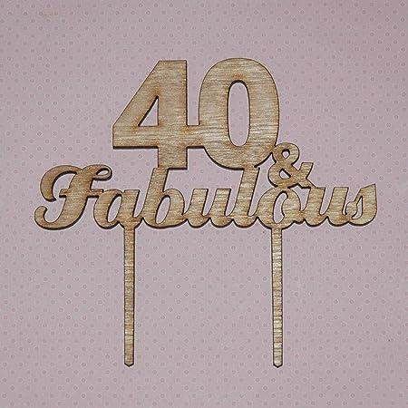 Fabuloso adorno para tartas para cualquier año 40 y Fab 50 y ...