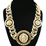 "Basketball Wives Love and Hip Hop Atlanta Rihanna 18""L Celebrity Inspired Lion Head Chain Link Necklace"