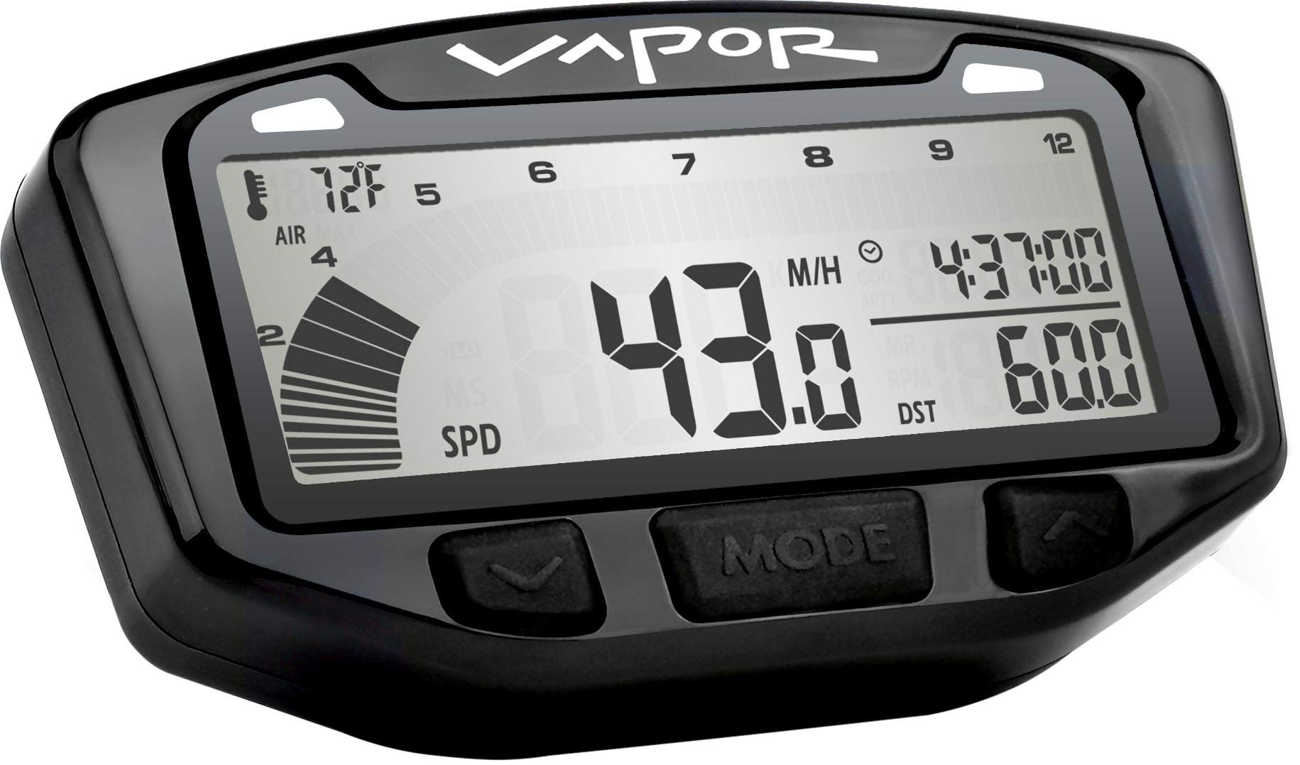 Trail Tech 752-120 Black Vapor Digital Speedometer Tachometer Gauge Kit, 1985-2013 Polaris Trail Blazer Boss by Trail Tech