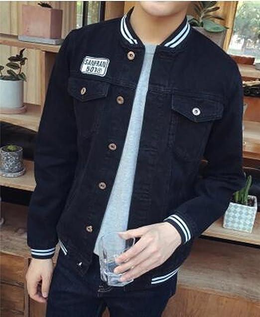 Meaningg Nuevo 2018 Hombres Jeans Chaqueta Abrigo Ripped Casual Denim Bomber Jacket Hombres Slim Fit Cazadora Jean Jean Chaquetas 5XL, 940, 5XL: Amazon.es: ...