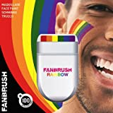 Rainbow Fan Brush Face & Body Paint Gay Lesbian Pride Flag Makeup Pocket Size Easy Wash Off Marches Events Festival Facepaint Fancy Dress Accessory