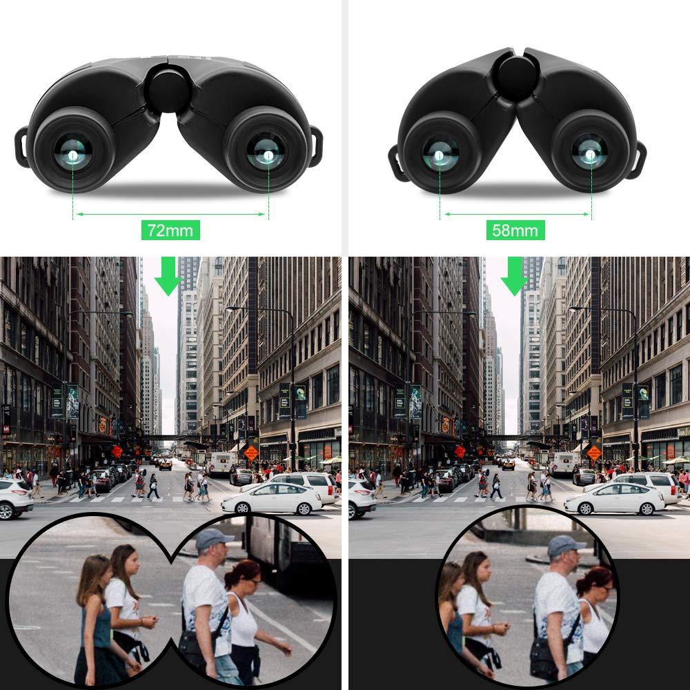Veroyi 10×25オートフォーカスフリーフォーカシング双眼鏡高精細ナイトビジョンポータブルポケット