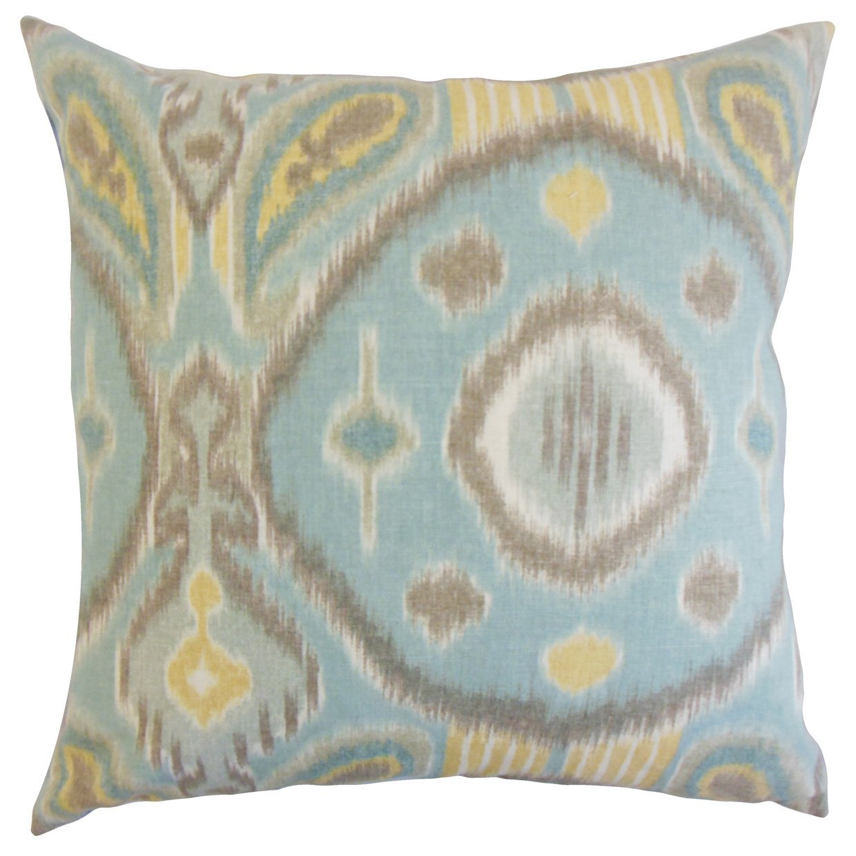 The Pillow Collection Spa Janvier Ikat Bedding Sham, Euro/26'' x 26''