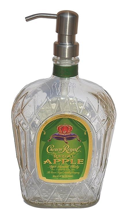 Corona Royal diseño de licor botella Repurposed jabón o loción dispensador (750 ml, estándar