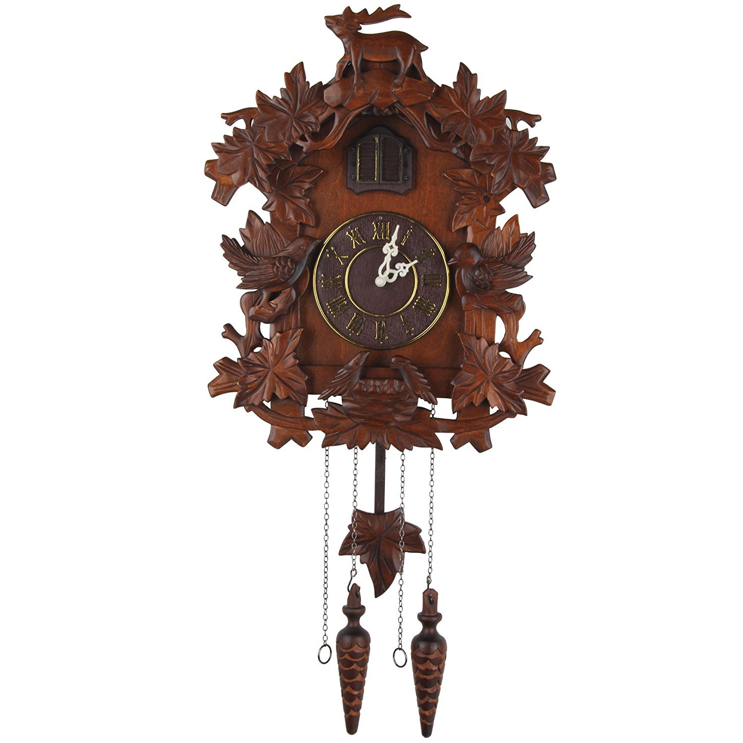 Kendal Handcrafted Wood Cuckoo Clock MX015-1 by Kendal