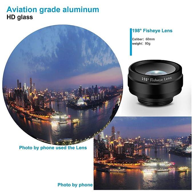 Kit de lentes de cámara de teléfono tres en uno y lente de ángulo ...