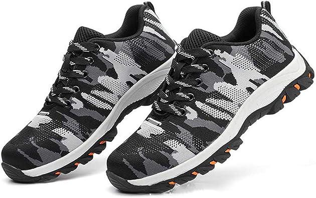 Camouflage Steel Toe Shoes Men Work