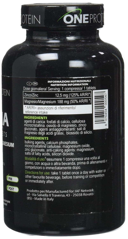 ONE PROTEIN ZMA Tablets 90 comprimidos: Amazon.es: Salud y cuidado personal