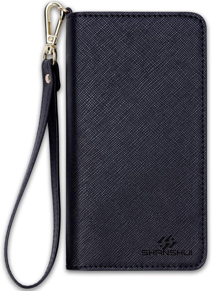 Damen Portemonnaie mit Handy Fach Reißverschluss Uni Geldbörse Portmonee Clutch